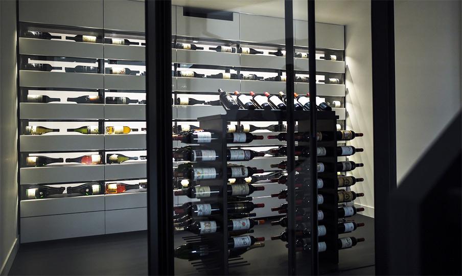 custom design wine cellar in mineral resin leuven 2016. Black Bedroom Furniture Sets. Home Design Ideas